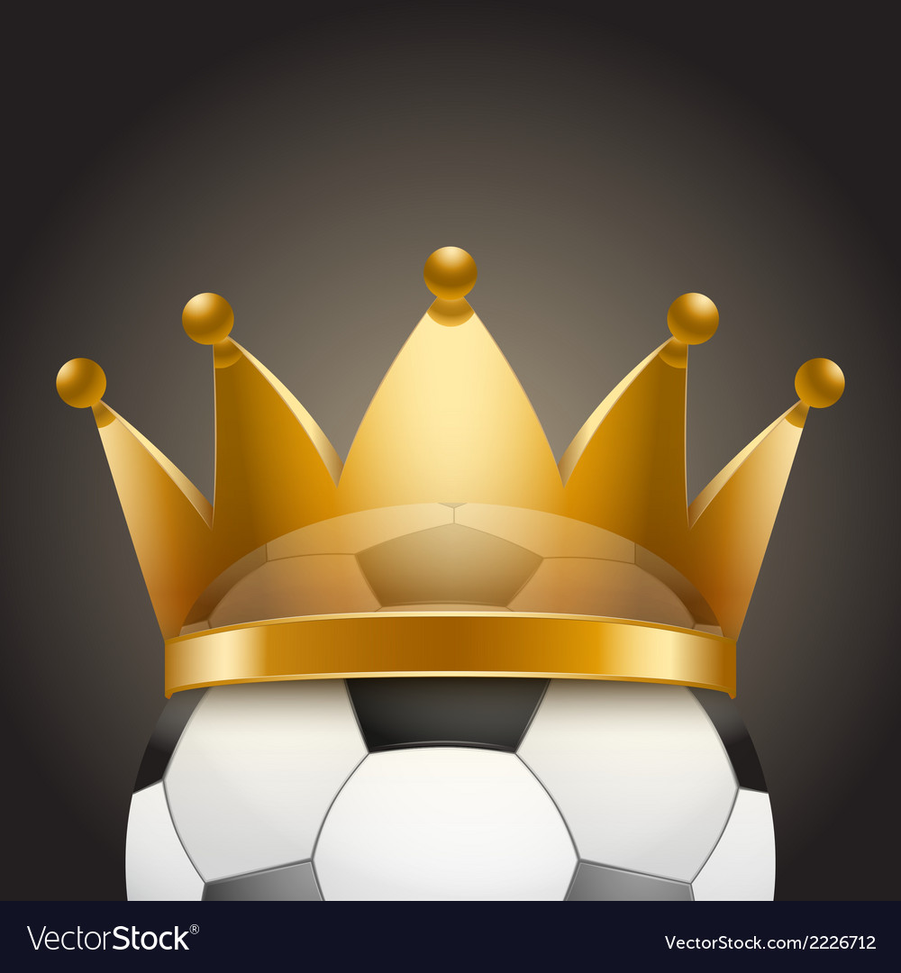 Background of soccer ball with royal crown vector | Price: 1 Credit (USD $1)