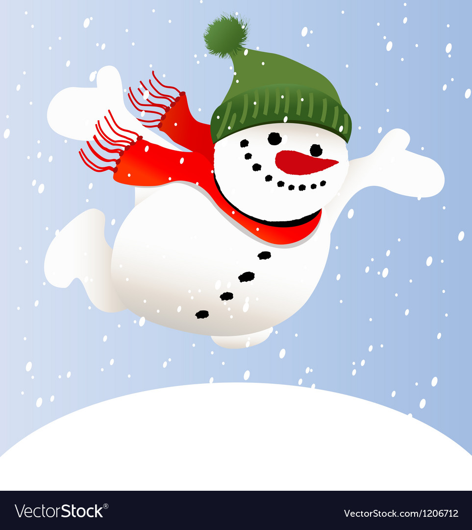 Cartoon snowman vector | Price: 1 Credit (USD $1)