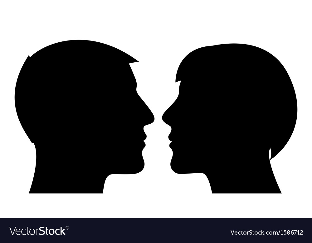 Couple silhouette man and woman vector | Price: 1 Credit (USD $1)