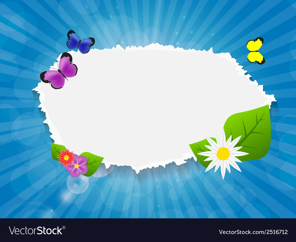 Frame on sunny shiny background vector   Price: 1 Credit (USD $1)