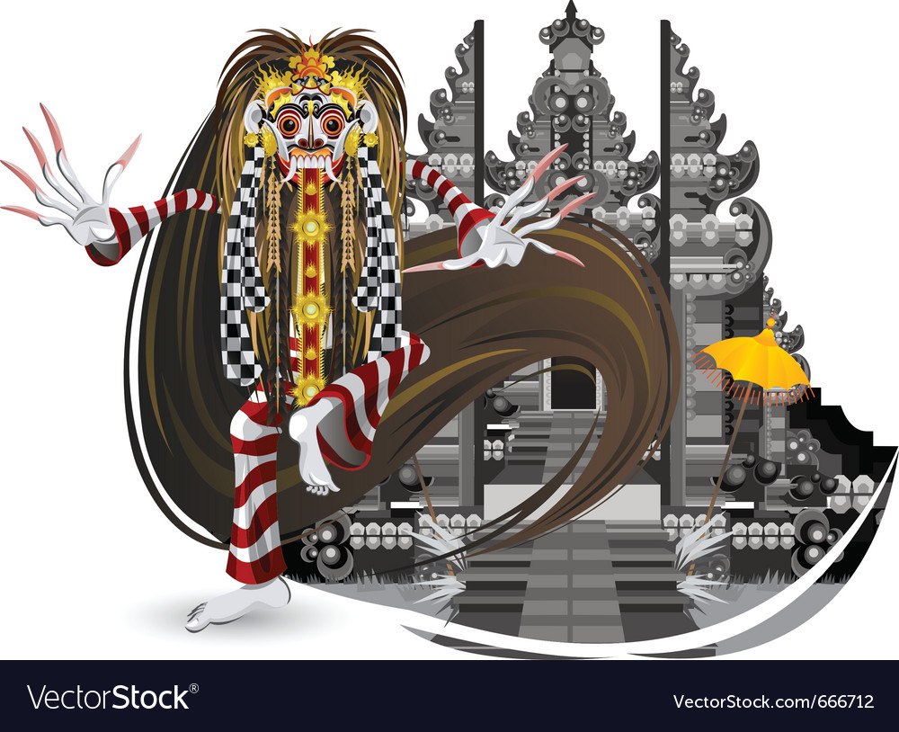 Rangda leak traditional bali dance vector | Price: 5 Credit (USD $5)