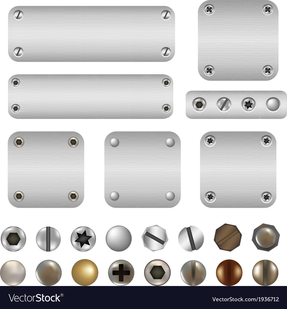 Screws and bolts vector | Price: 1 Credit (USD $1)