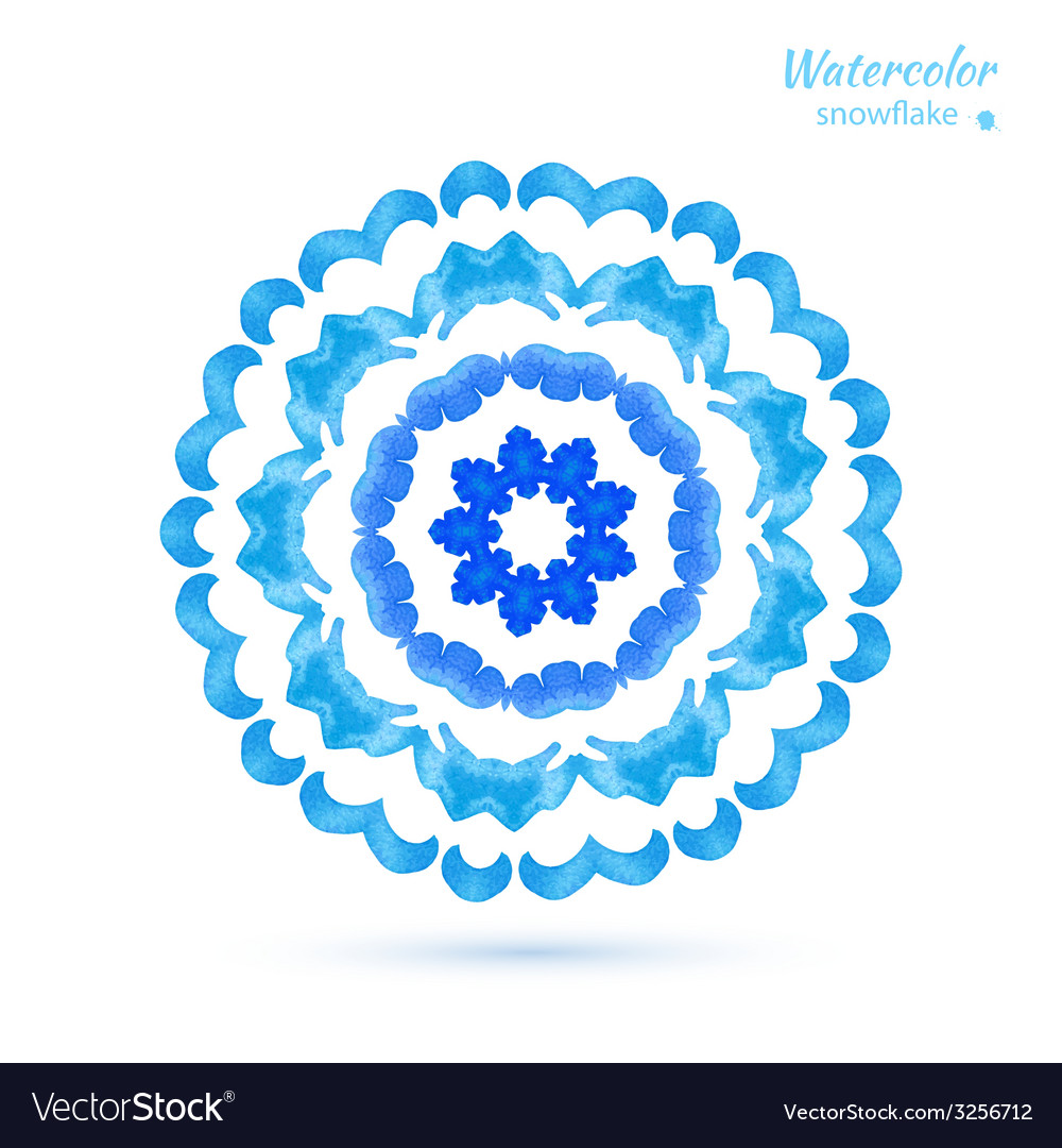 Snowflake flower folk style vector   Price: 1 Credit (USD $1)