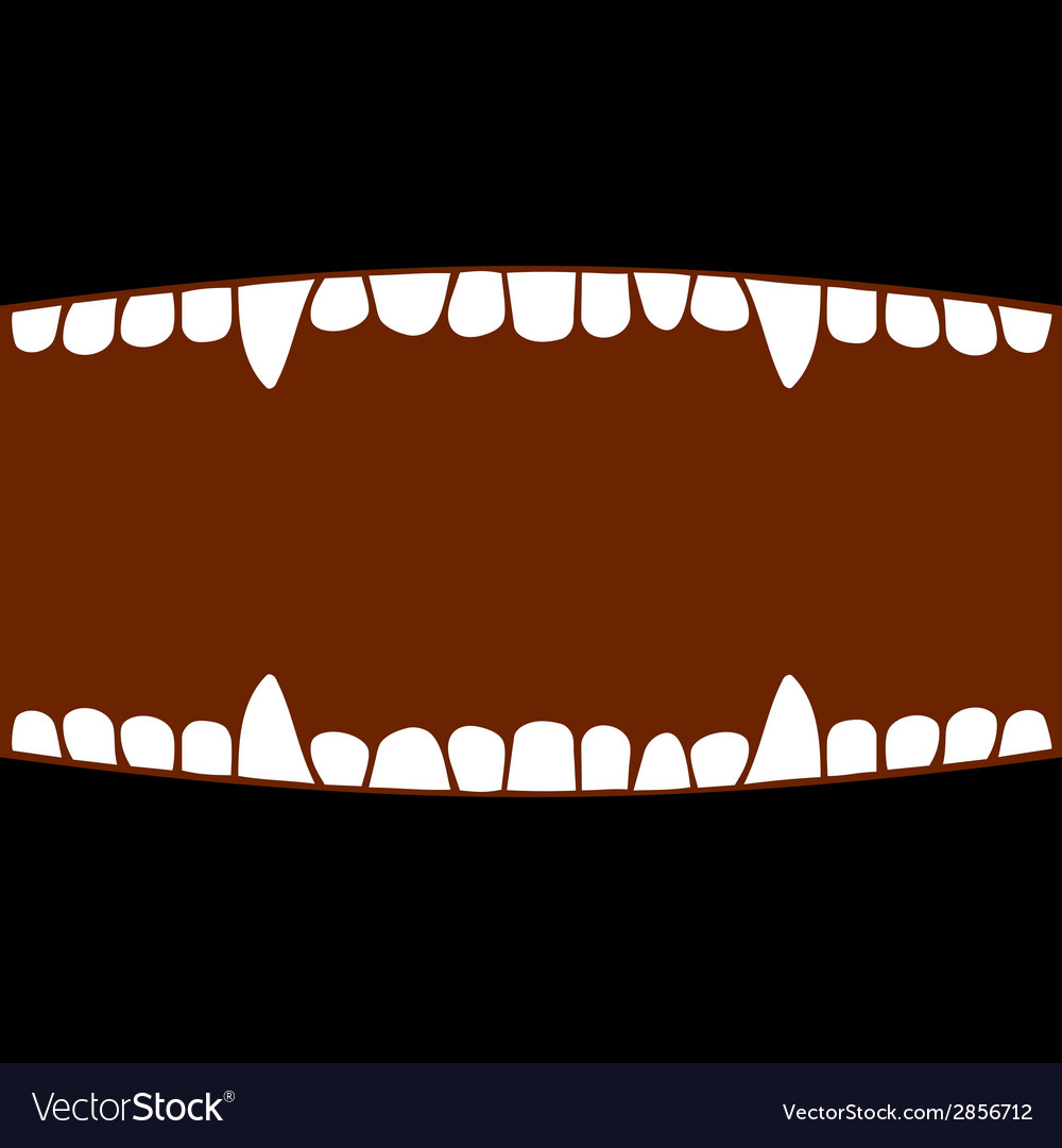 Vampire mouth with teeth halloween background vector | Price: 1 Credit (USD $1)