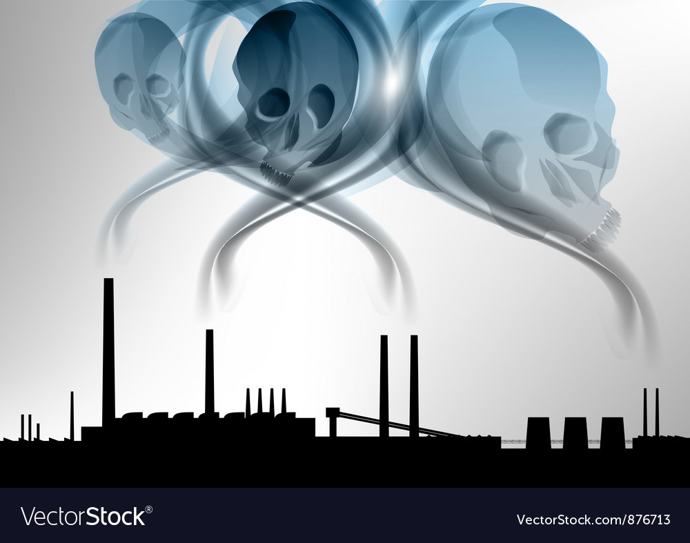Factory pollution vector | Price: 1 Credit (USD $1)