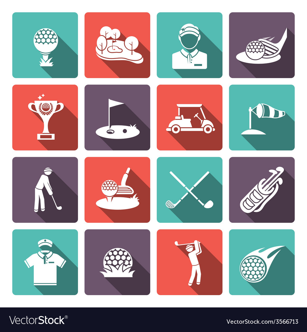 Golf icons set vector | Price: 1 Credit (USD $1)