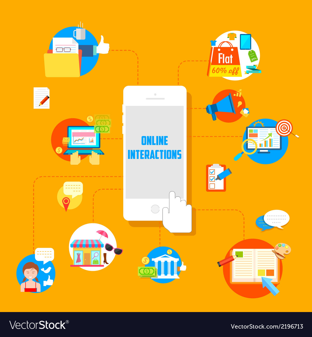 Online interactions vector | Price: 1 Credit (USD $1)