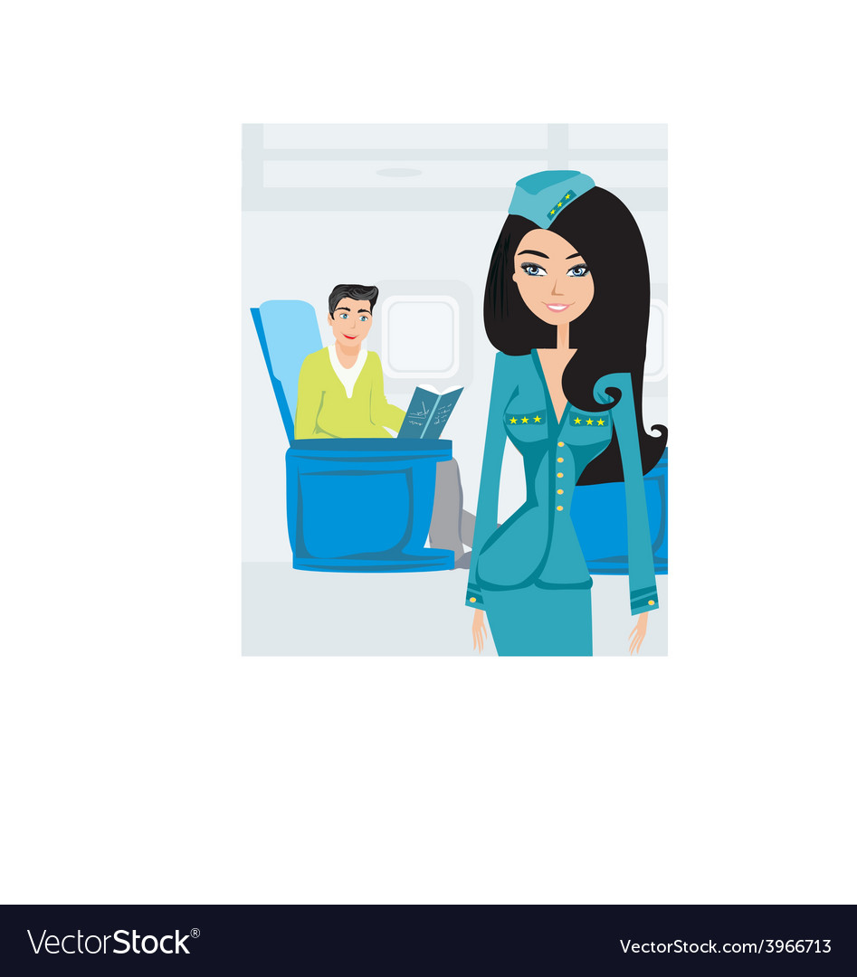 Passenger in airplane reading a book vector | Price: 1 Credit (USD $1)