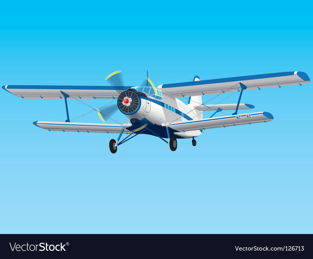 Prop biplane vector | Price: 3 Credit (USD $3)