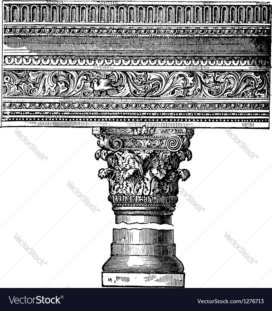 Saint john church pillar vector | Price: 1 Credit (USD $1)