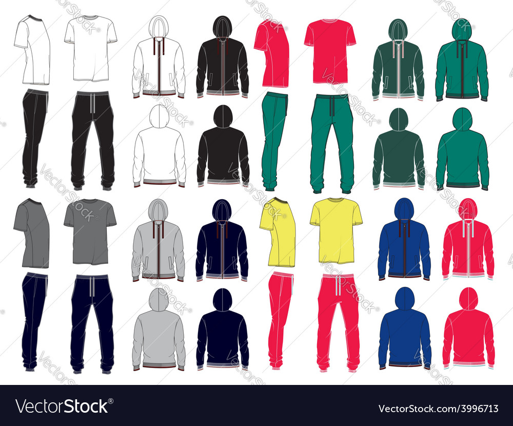 Set of mens sport clothes vector | Price: 1 Credit (USD $1)