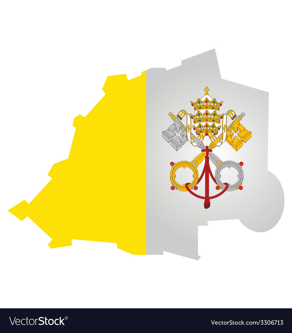 Vatican city flag vector | Price: 1 Credit (USD $1)