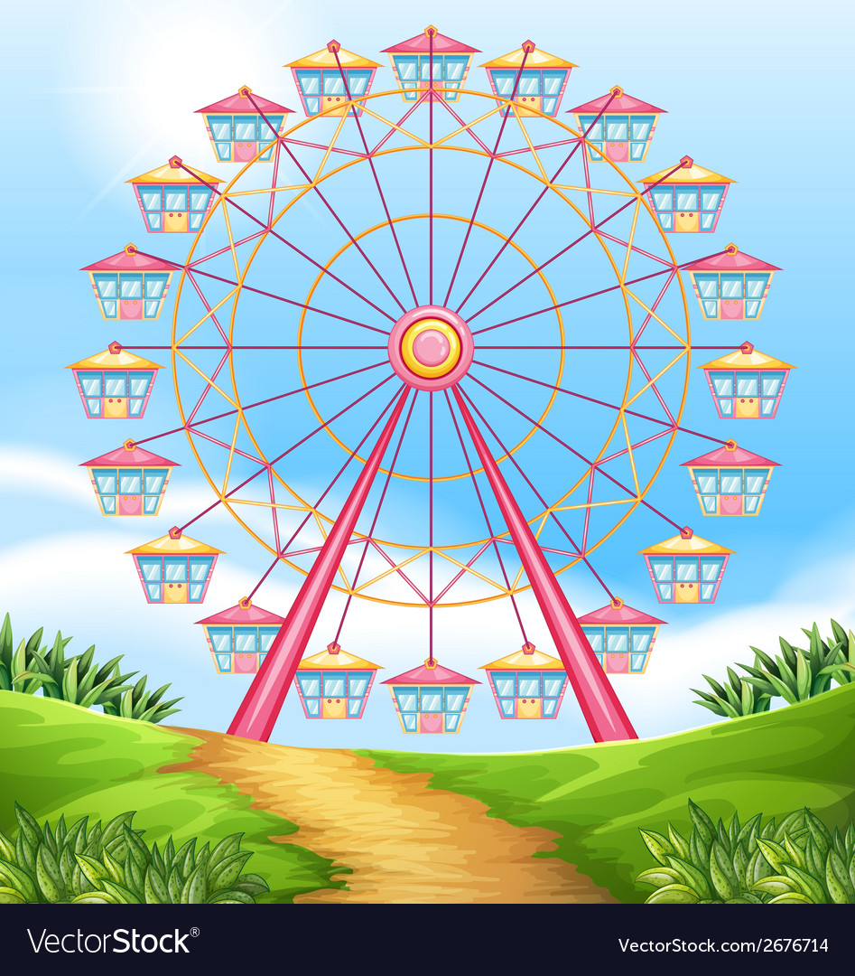 A ferris wheel ride vector | Price: 3 Credit (USD $3)