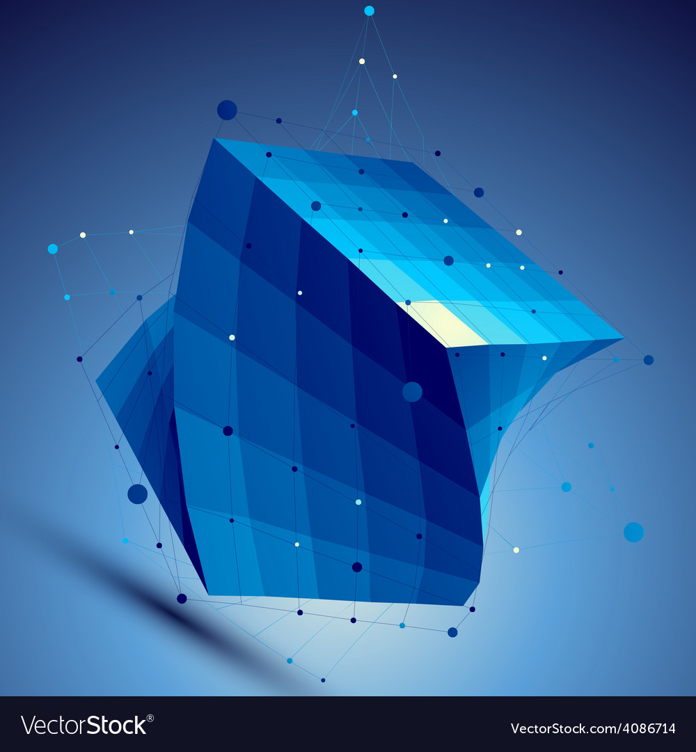 Blue squared 3d abstract technology perspec vector | Price: 1 Credit (USD $1)