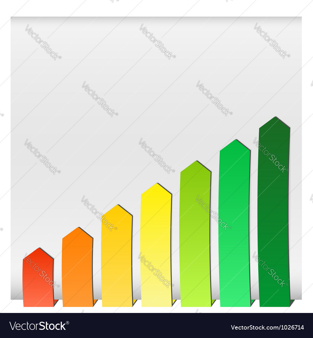 Chart graphs growing vector | Price: 1 Credit (USD $1)