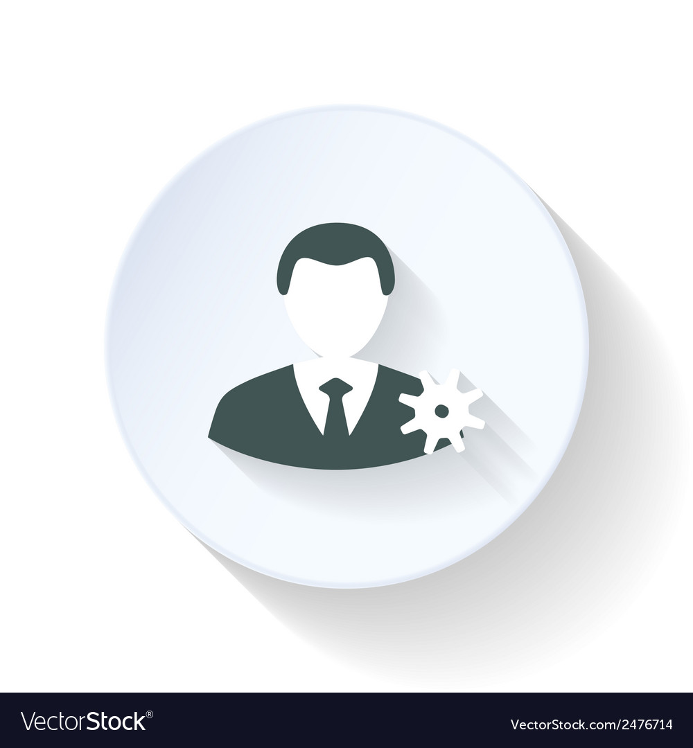 Contact settings flat icon vector | Price: 1 Credit (USD $1)