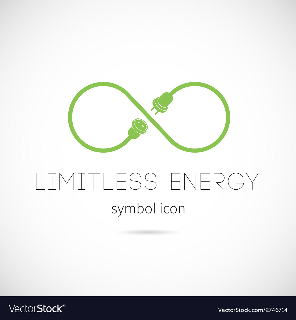 Limitless energy concept symbol icon vector | Price: 1 Credit (USD $1)