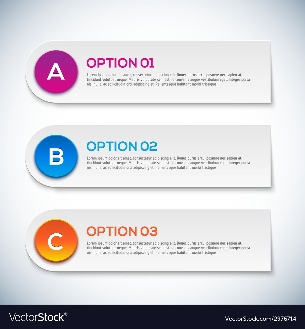 Modern 3d infographics options abstract 3d digital vector | Price: 1 Credit (USD $1)