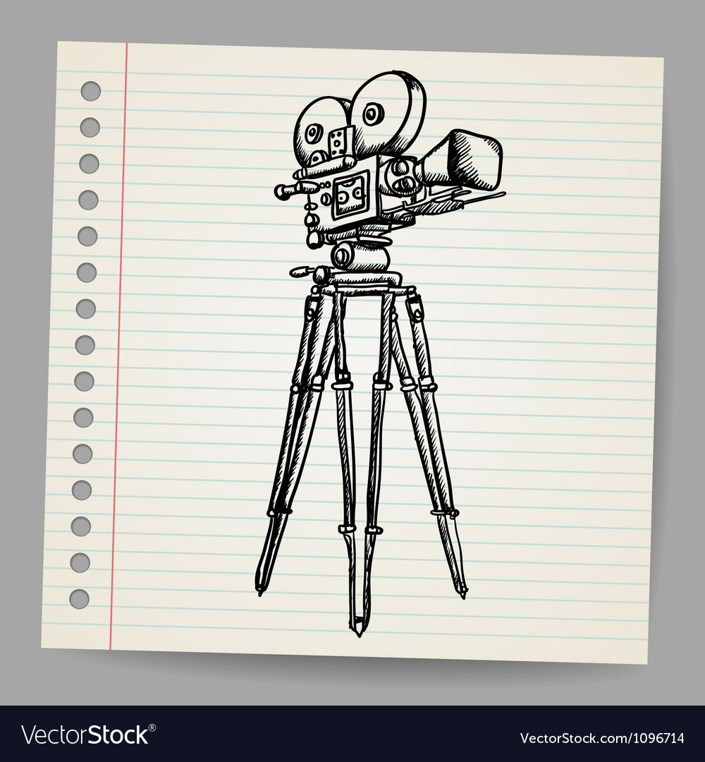 Old doodle hand-drawn camera vector | Price: 1 Credit (USD $1)