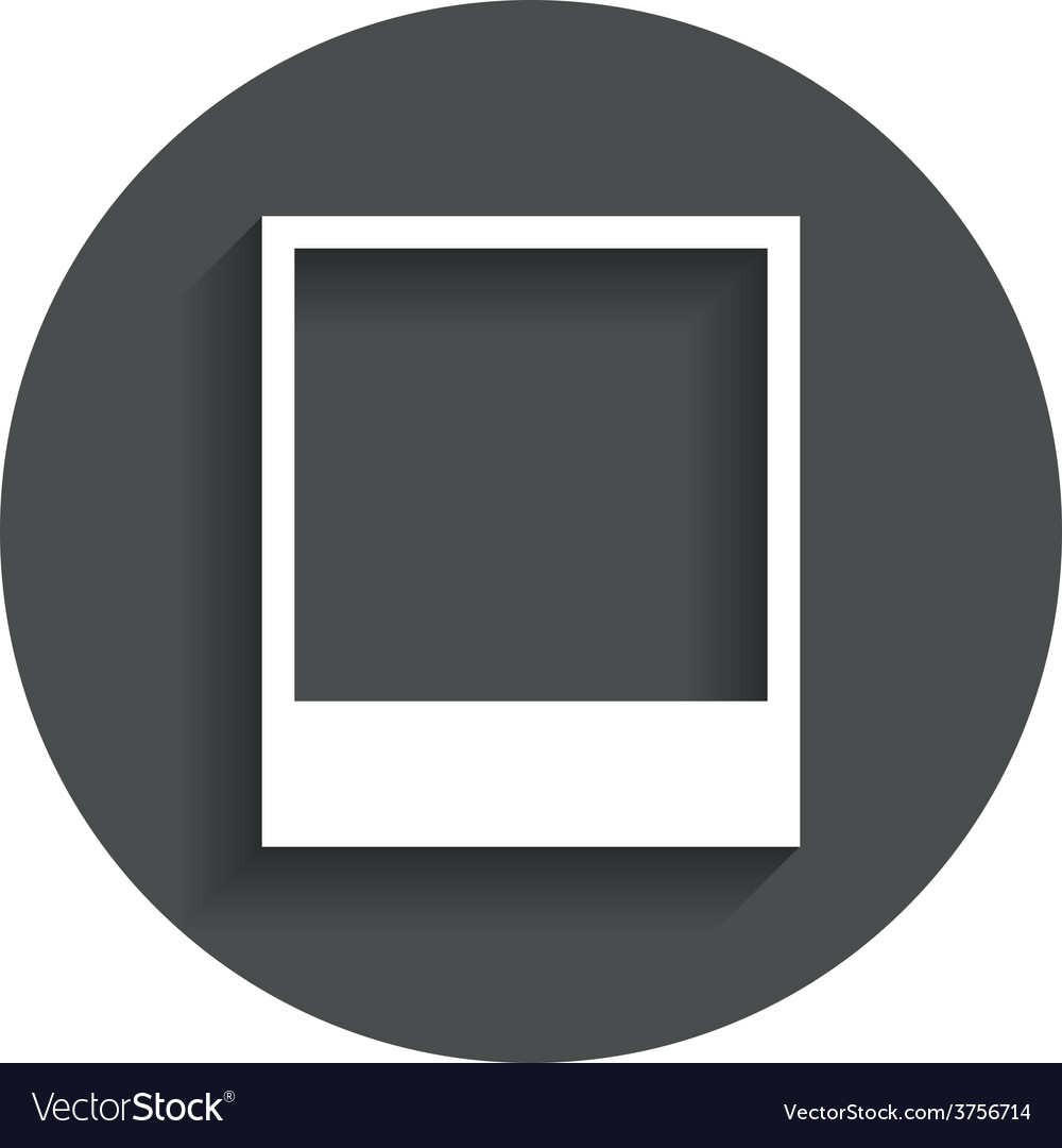 Photo frame template icon empty photography vector | Price: 1 Credit (USD $1)