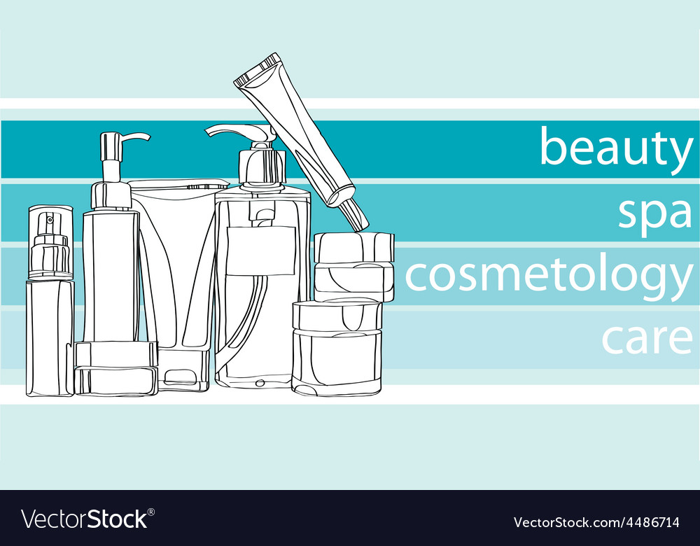 Series care cosmetics vector | Price: 1 Credit (USD $1)