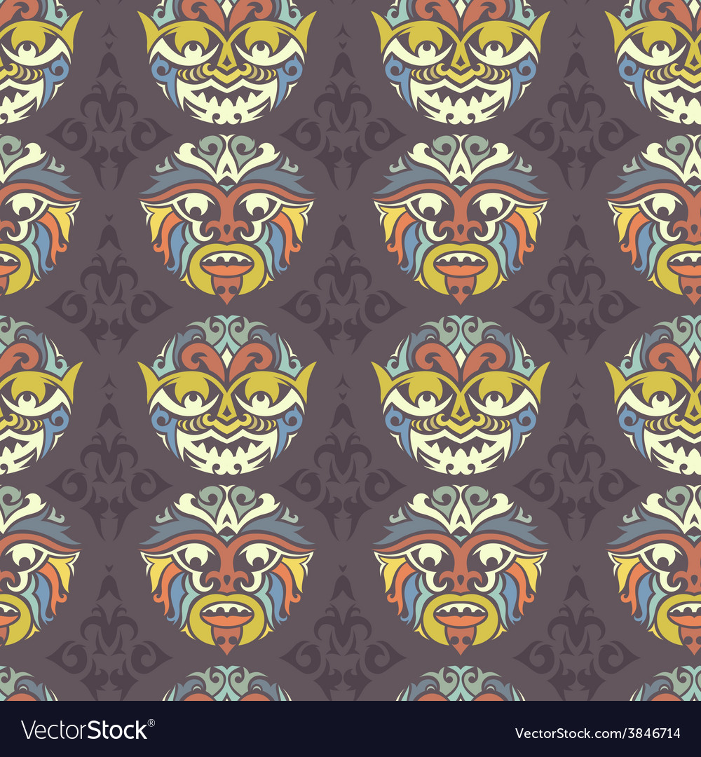 Tribal seamless pattern vector | Price: 1 Credit (USD $1)