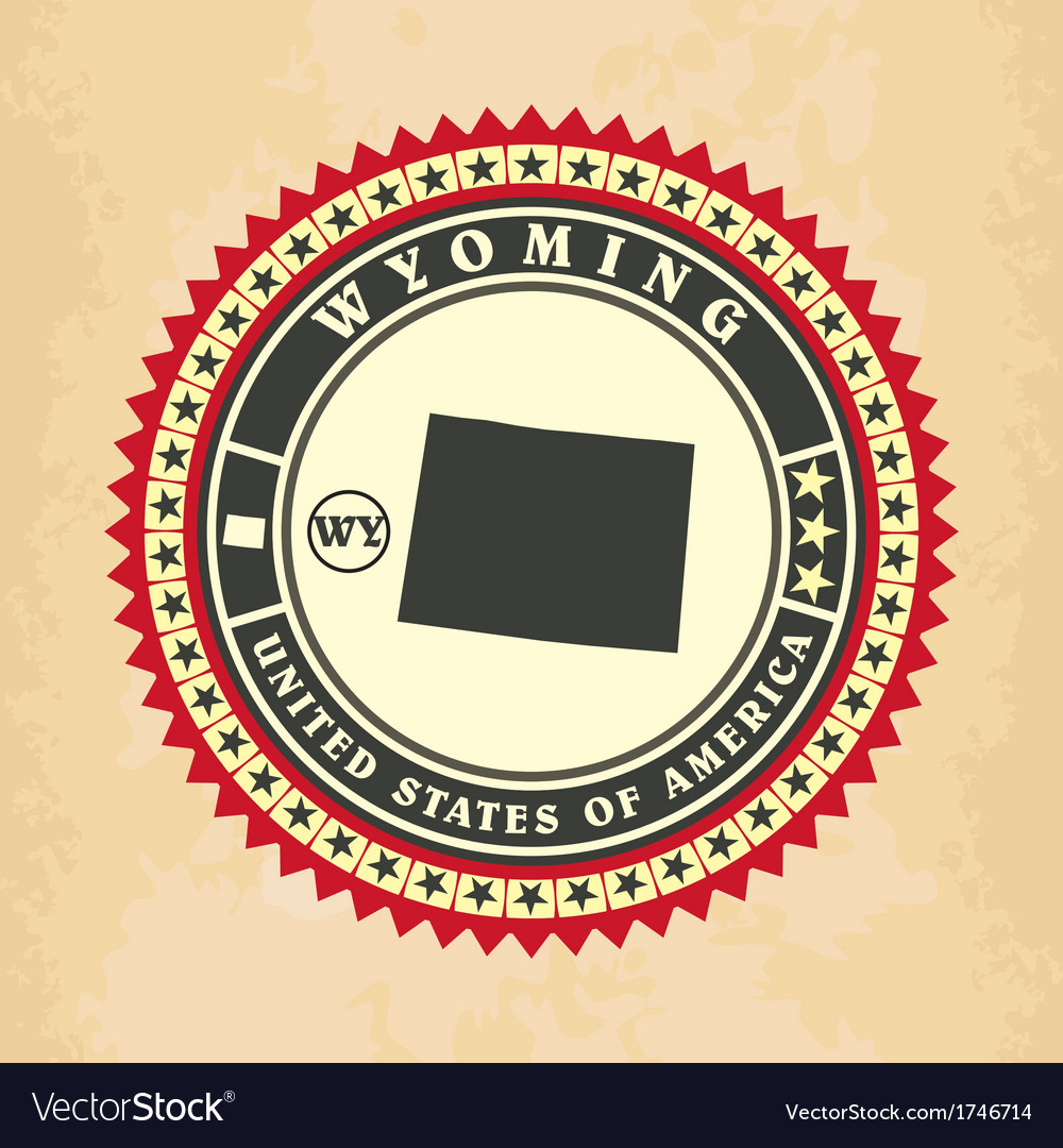 Vintage label-sticker cards of wyoming vector   Price: 1 Credit (USD $1)