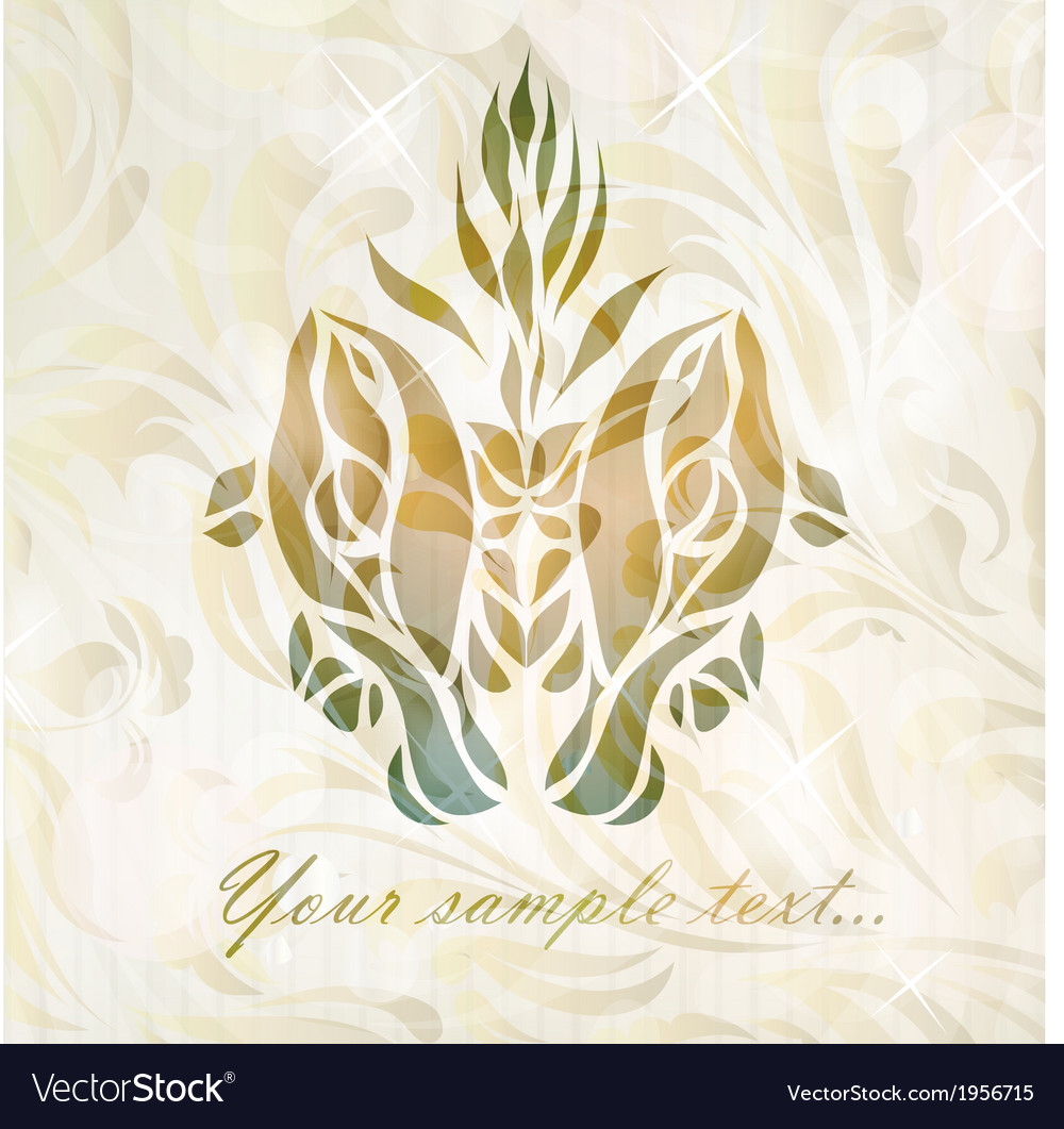 Abstract vintage twin fish vector | Price: 1 Credit (USD $1)