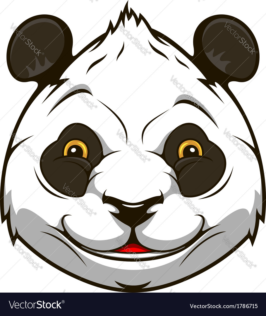 Cartoon panda bear vector | Price: 1 Credit (USD $1)