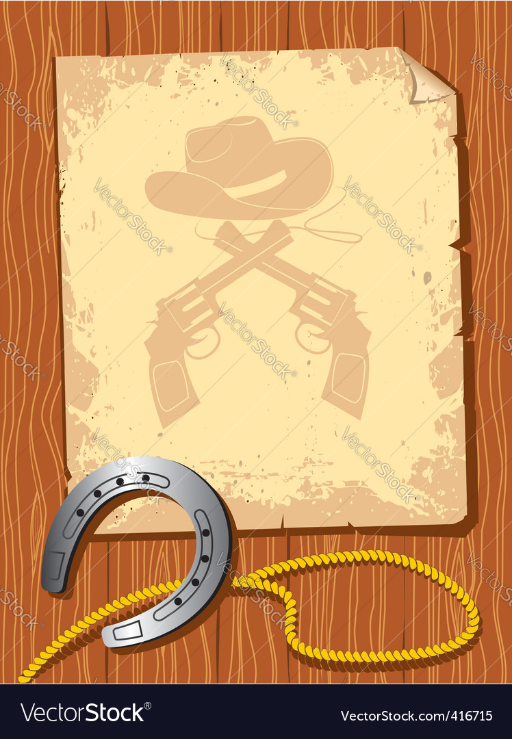 Cowboy elements scroll vector | Price: 1 Credit (USD $1)