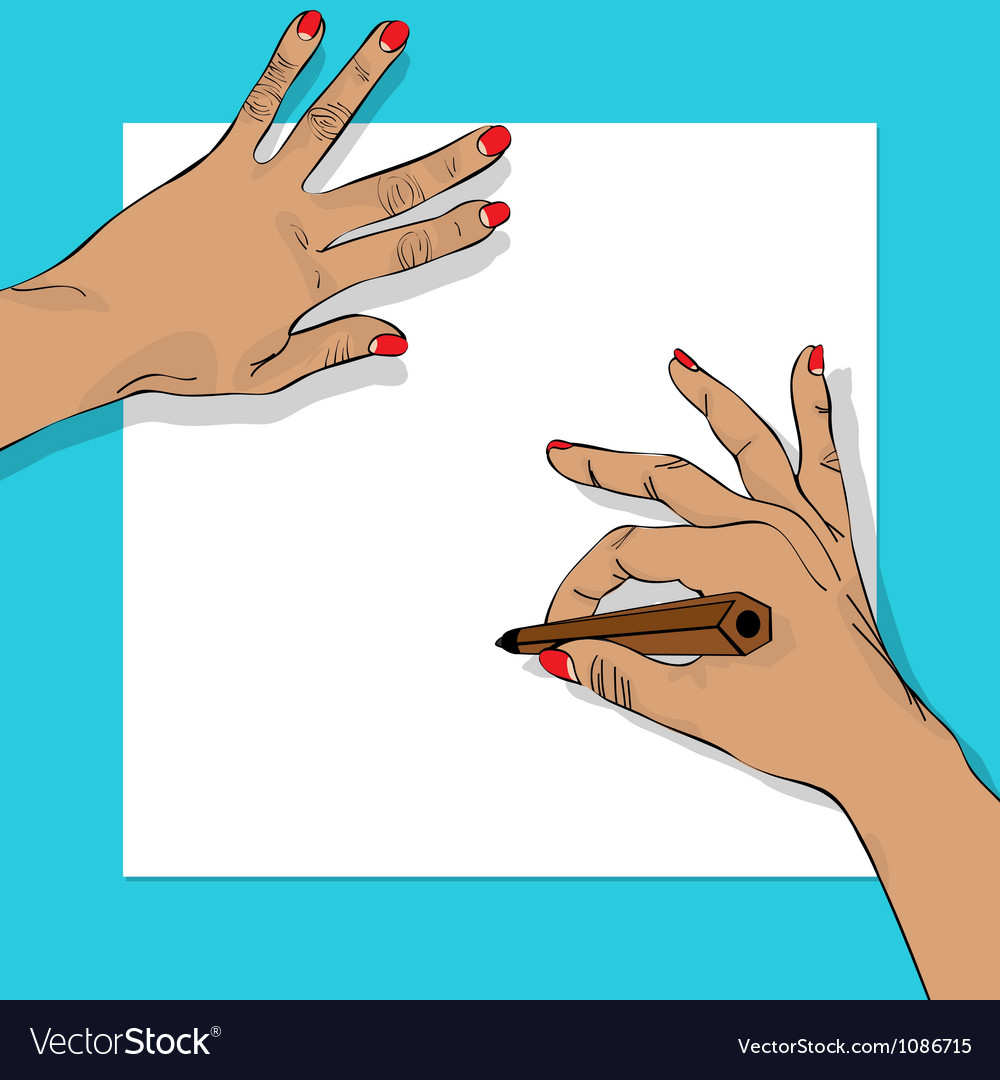 Drawing hands vector | Price: 1 Credit (USD $1)