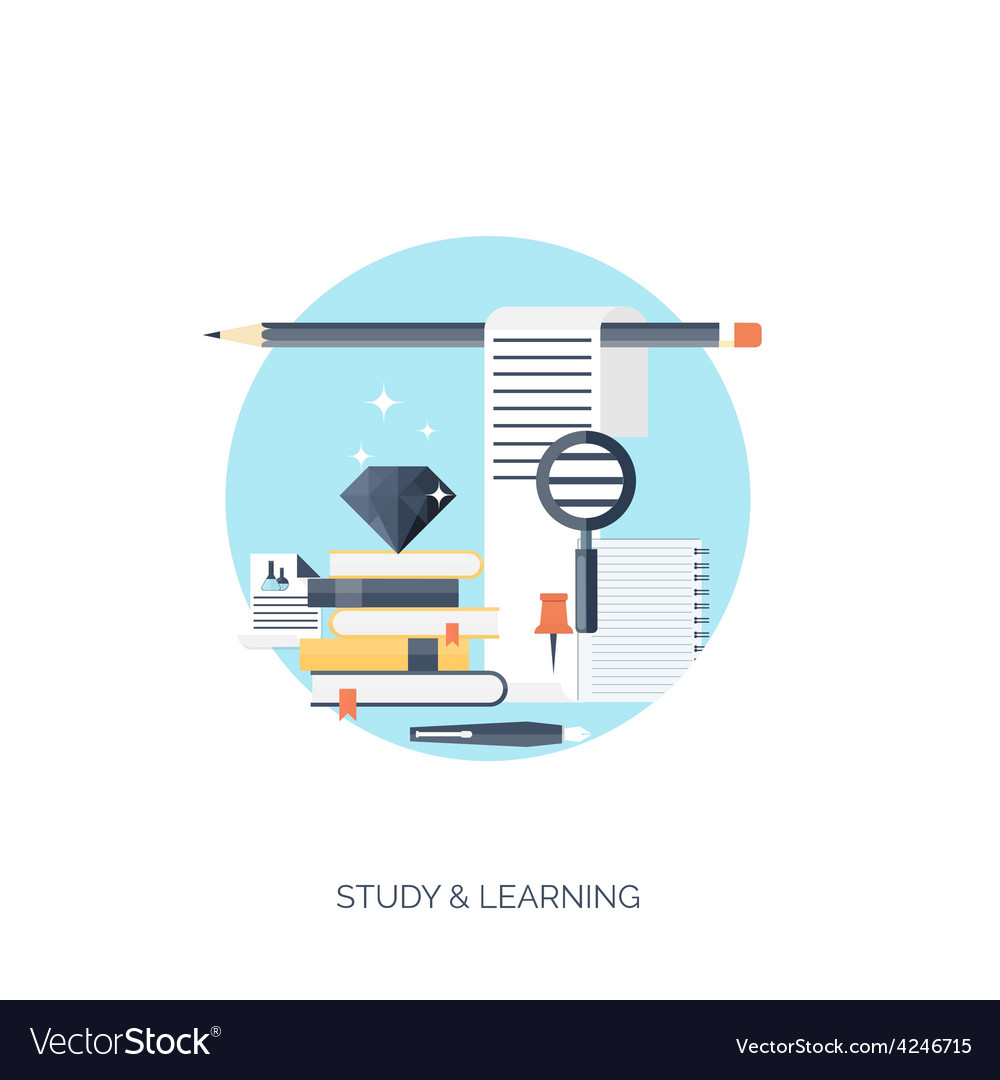 Flat  study and learning vector | Price: 1 Credit (USD $1)