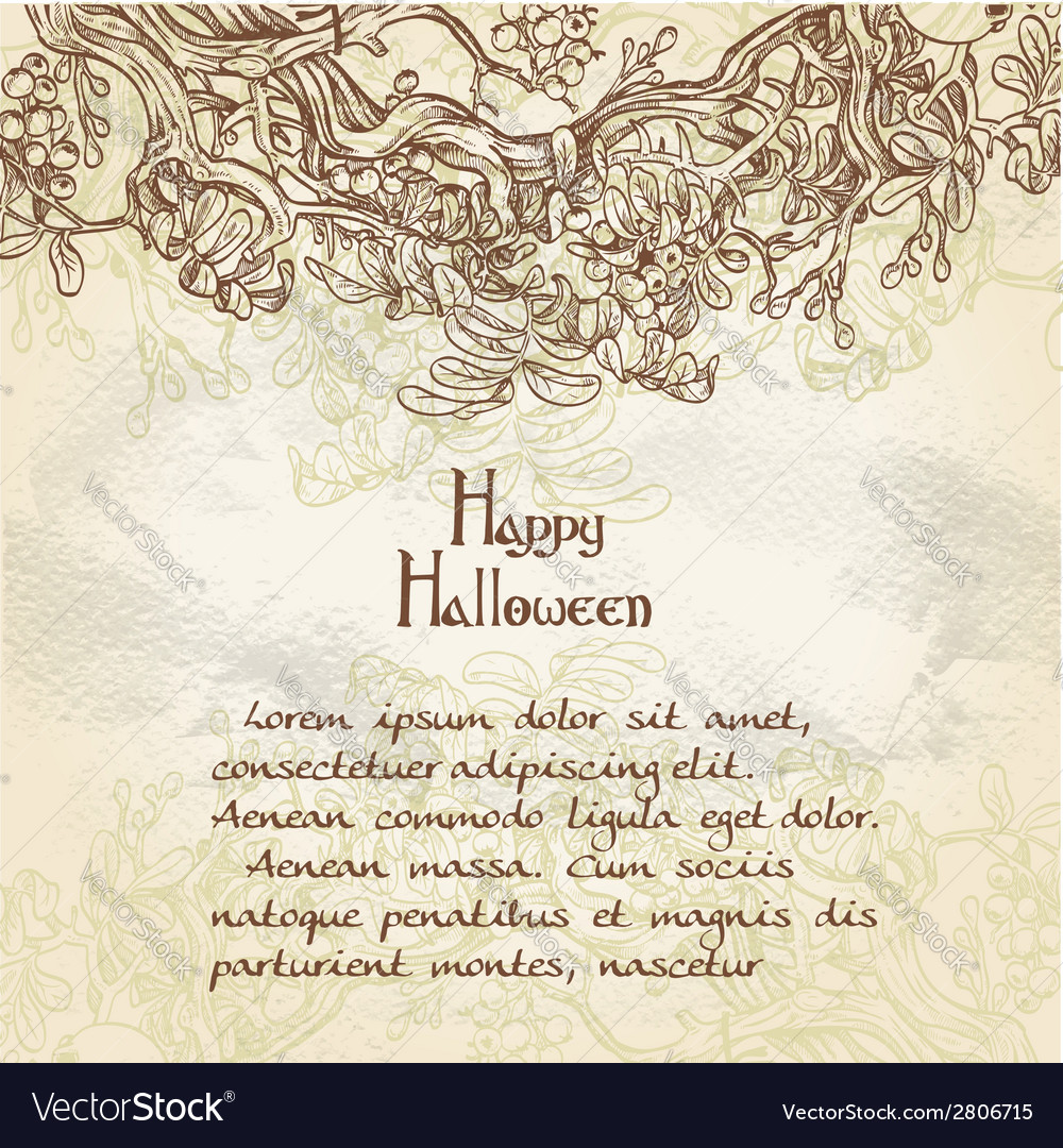 Halloween decorative vintage background vector | Price: 1 Credit (USD $1)
