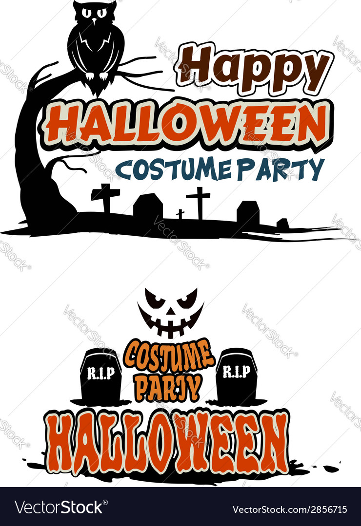 Halloween party themes vector | Price: 1 Credit (USD $1)