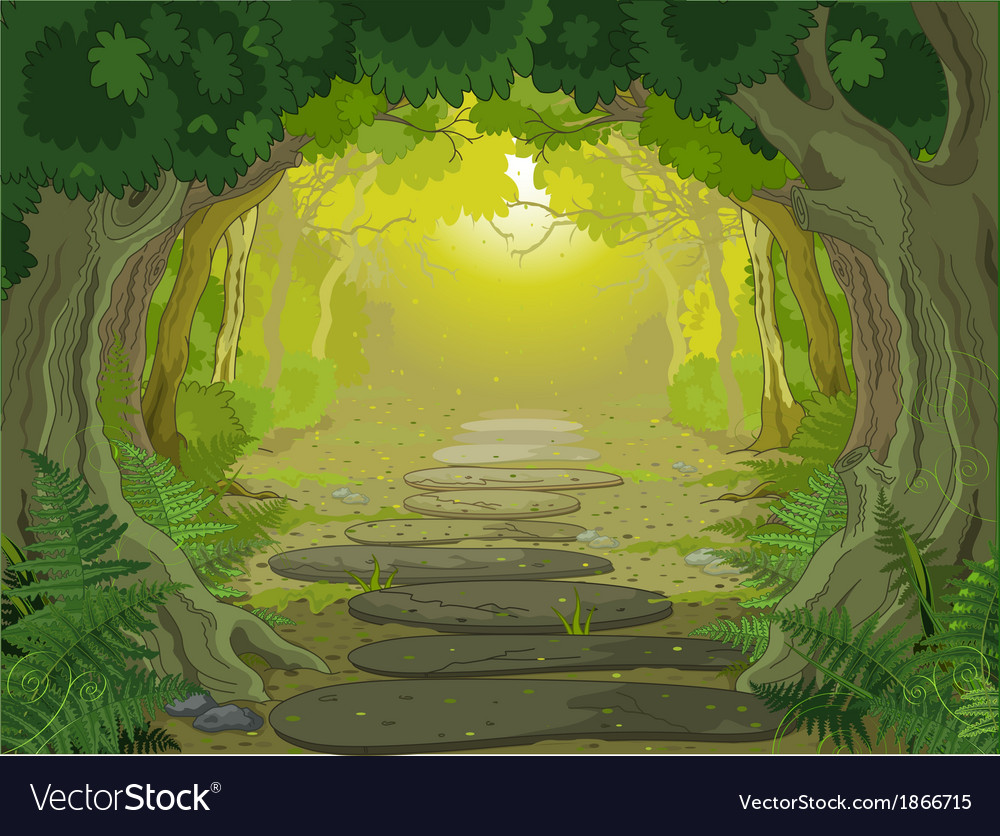 Magic landscape entrance vector | Price: 3 Credit (USD $3)