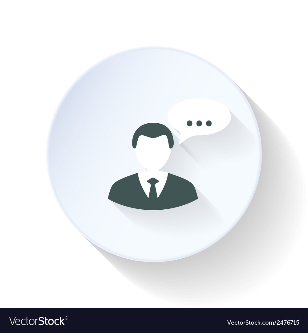 Man speak flat icon vector | Price: 1 Credit (USD $1)