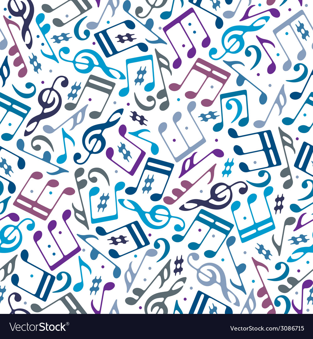 Musical notes seamless pattern vector | Price: 1 Credit (USD $1)