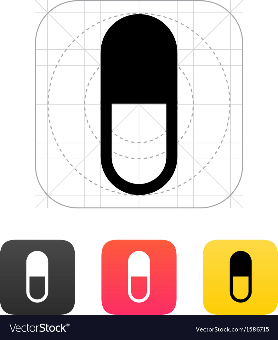 Pill capsule icon vector | Price: 1 Credit (USD $1)