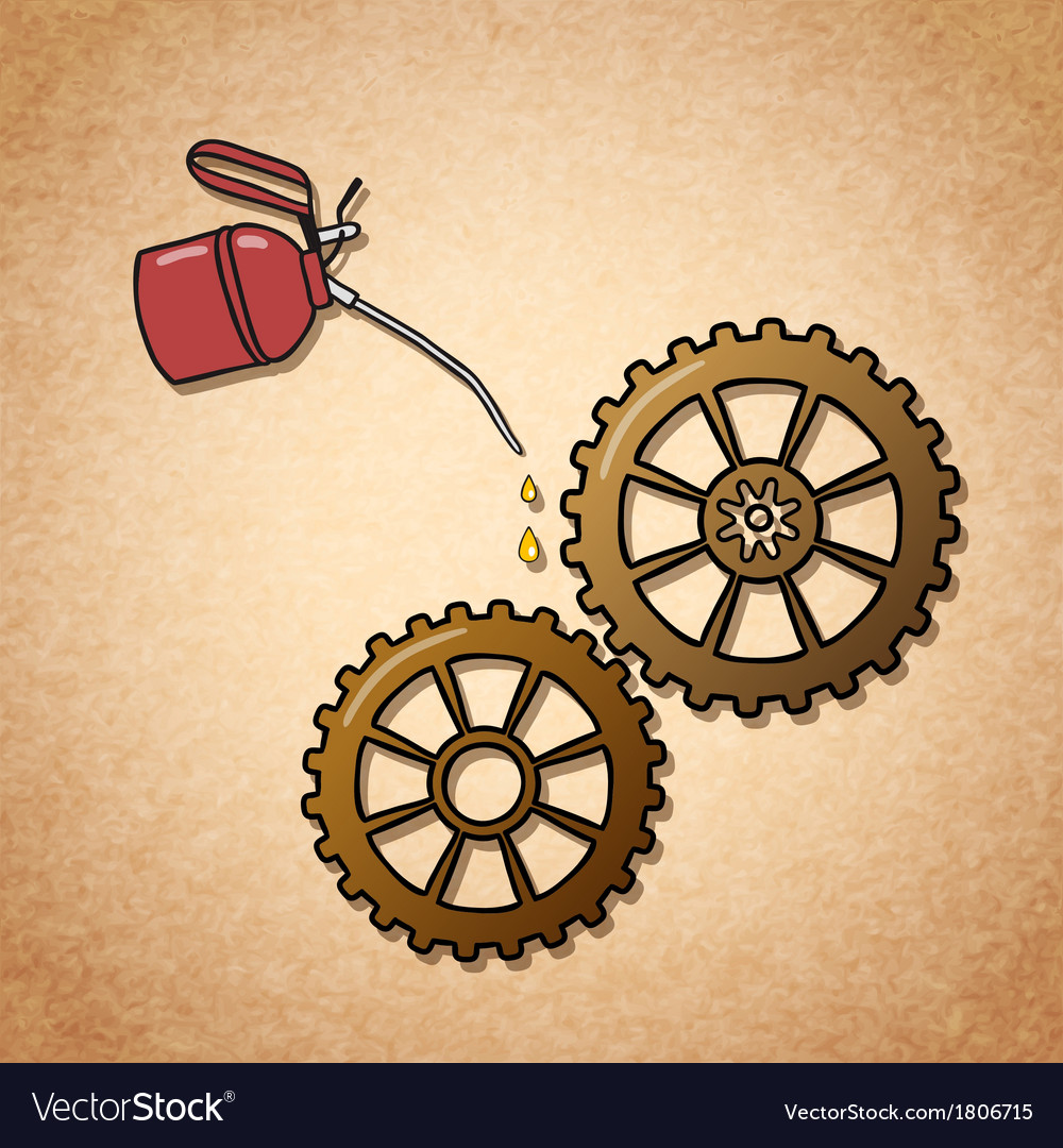 Smoothly spinning gears symbol vector | Price: 1 Credit (USD $1)