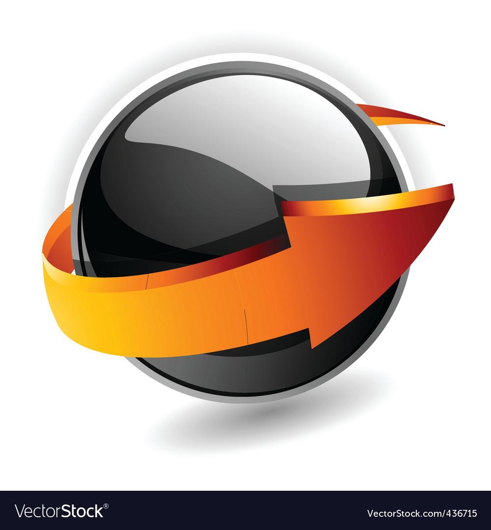 Sphere arrow vector | Price: 1 Credit (USD $1)