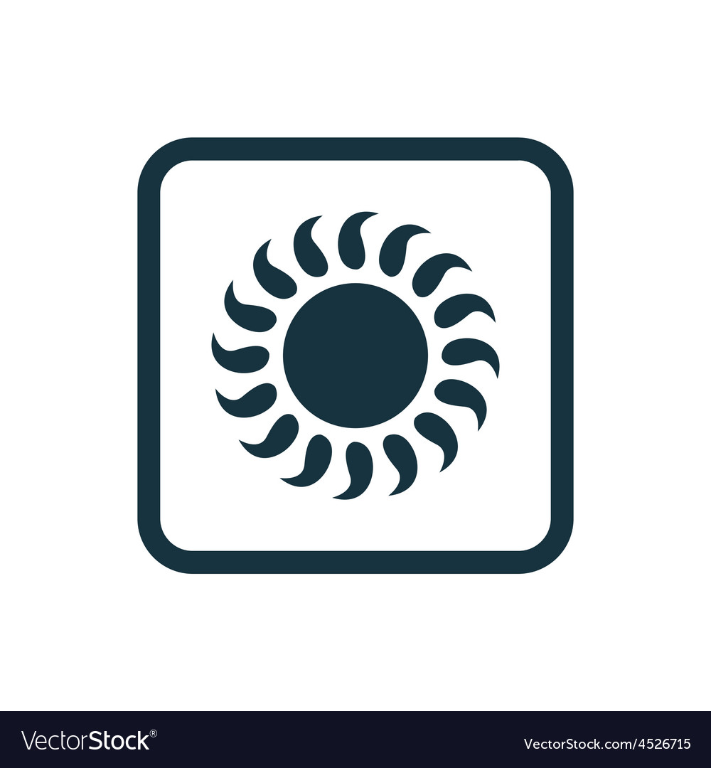 Sun icon rounded squares button vector | Price: 1 Credit (USD $1)
