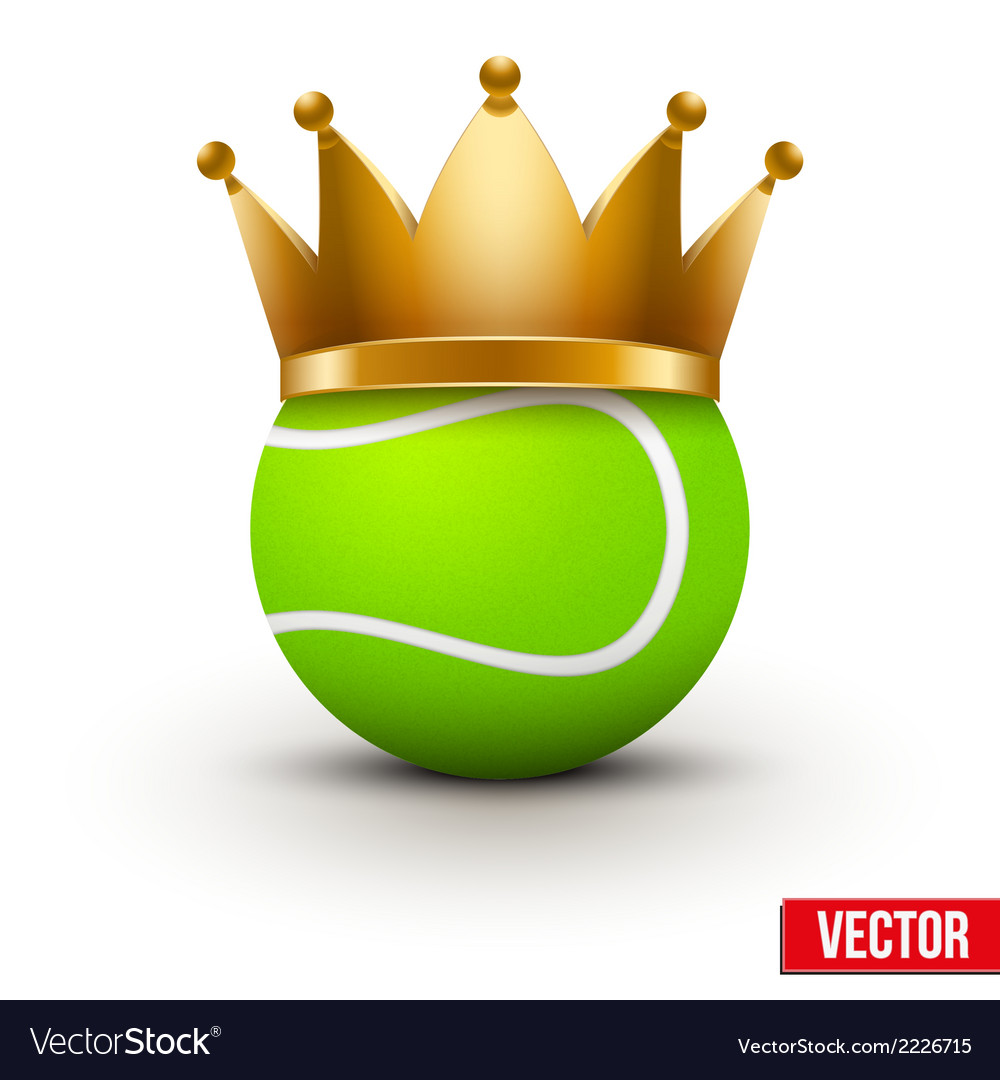 Tennis ball with royal crown vector | Price: 1 Credit (USD $1)
