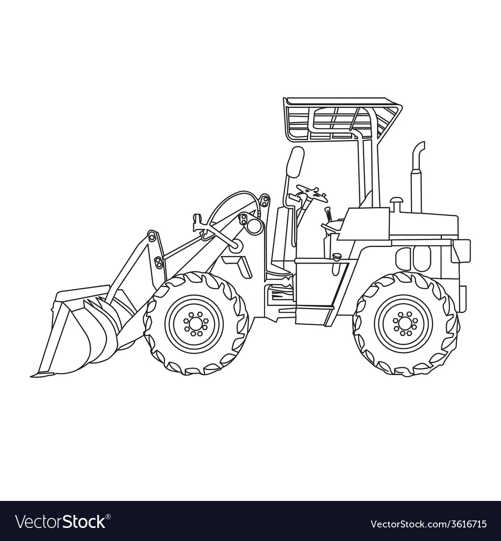 Wheeled tractor vector | Price: 1 Credit (USD $1)