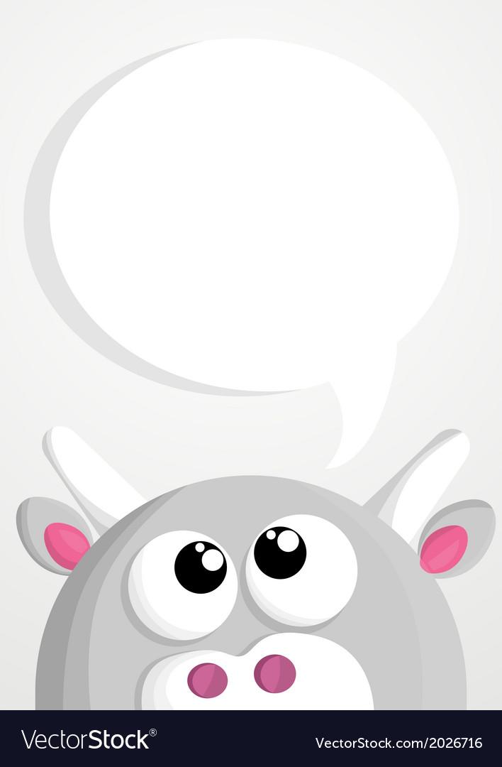 Animal thinking vector | Price: 1 Credit (USD $1)