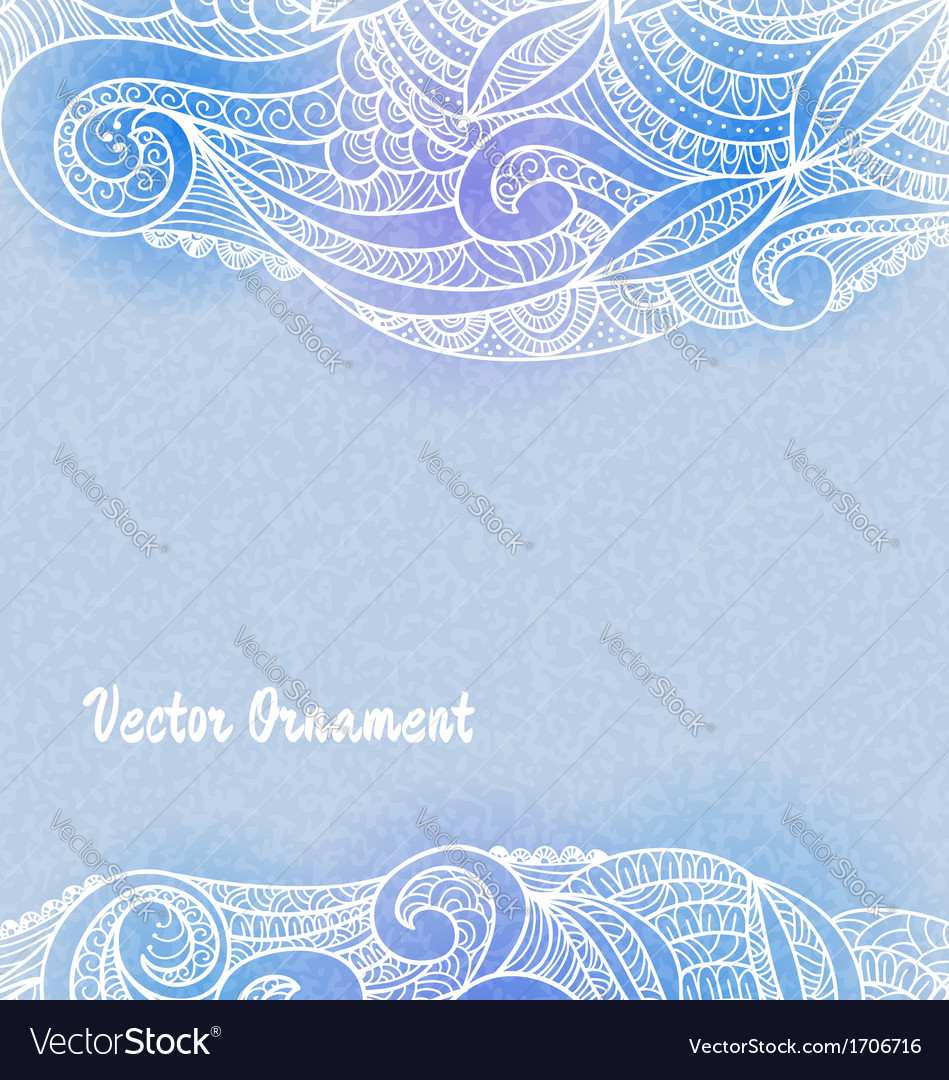 Card with ornaments hand-drawn vector | Price: 1 Credit (USD $1)