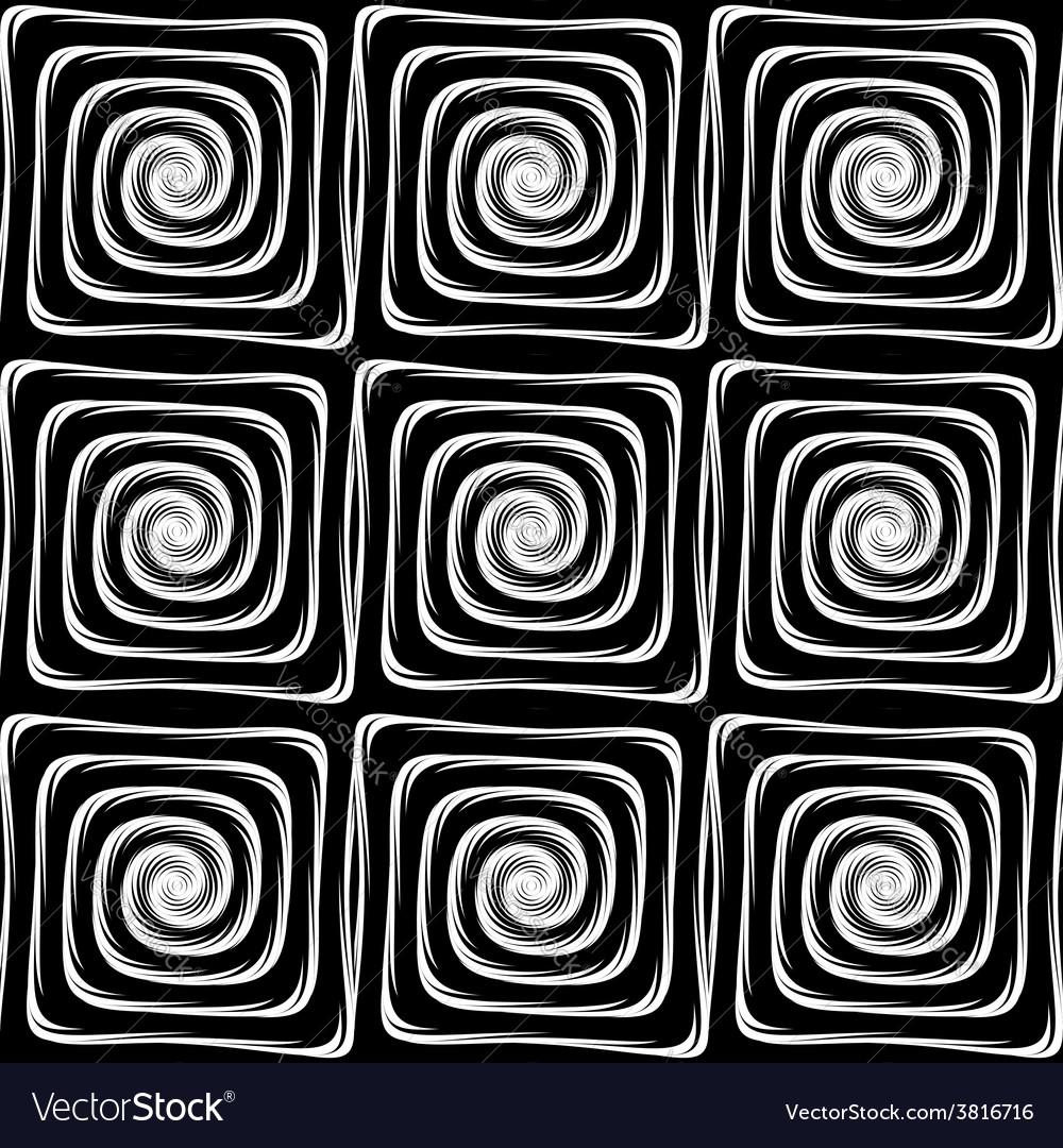 Design seamless monochrome labyrinth pattern vector | Price: 1 Credit (USD $1)