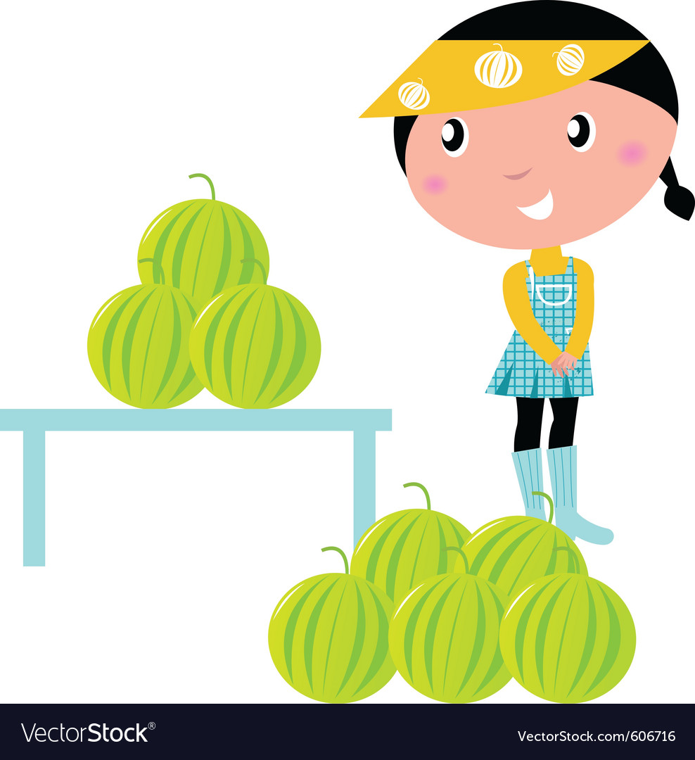 Fresh water melons vector | Price: 1 Credit (USD $1)