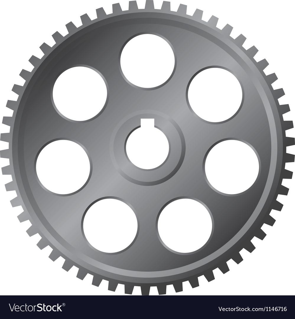 Large metal gear - monochrome vector   Price: 1 Credit (USD $1)