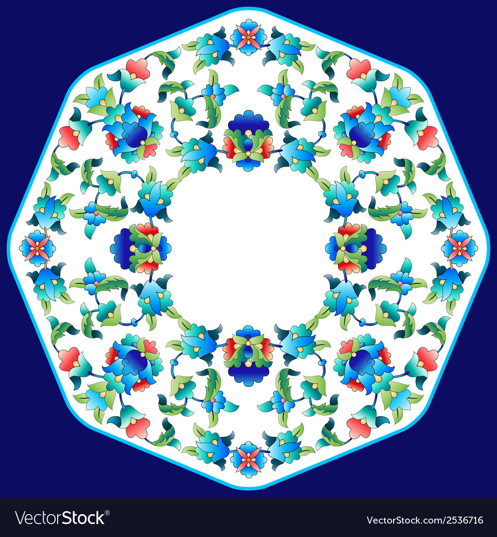 Ottoman motifs design series sixty two vector | Price: 1 Credit (USD $1)