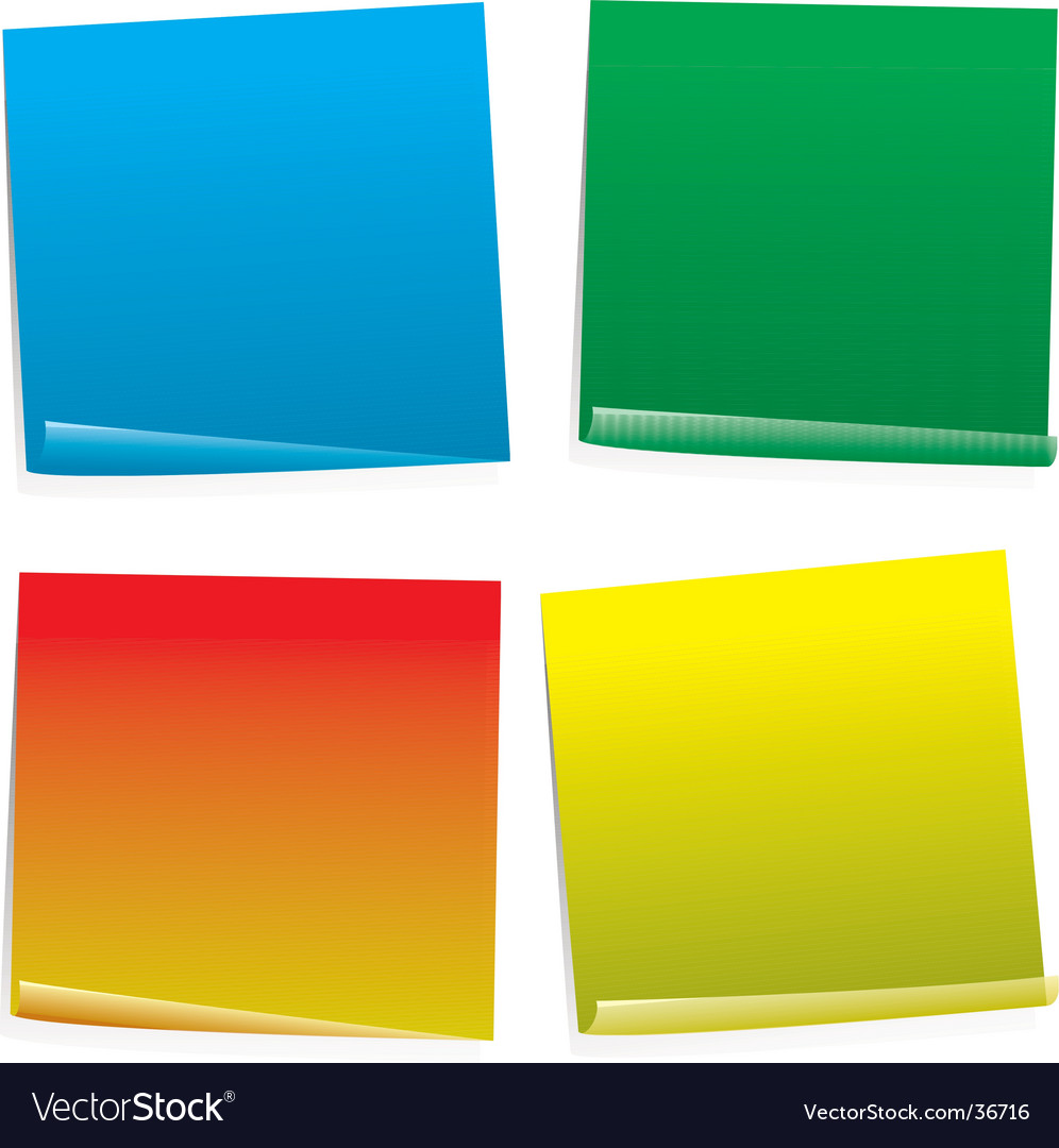 Post it col variation vector | Price: 1 Credit (USD $1)